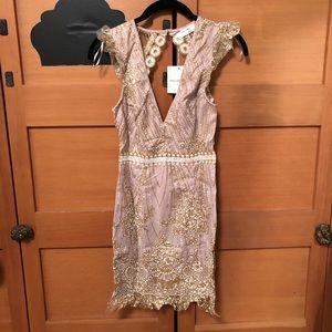 NWT open back shimmer dress